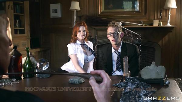 Adult naughty Harry at Hogwarts and his new sex toy Tarra White