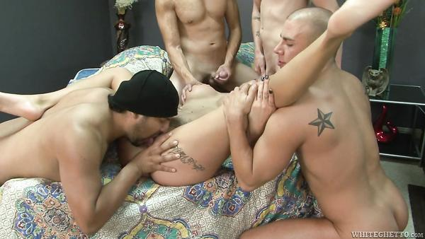 Bisexual orgies with busty MILF and her husband