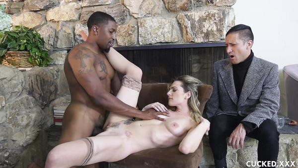 My wife Dahlia Sky gets fucked by black guy in front of me
