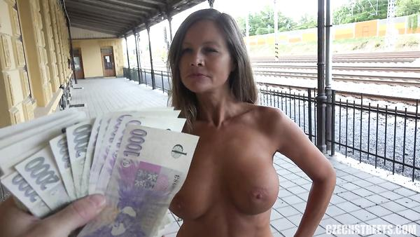 Dirty Sex At The Station. MILF Gets Fucked For Money