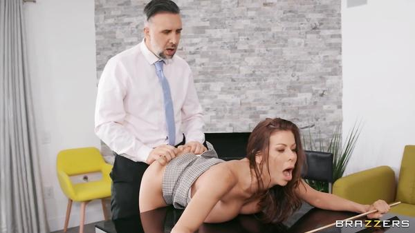 Strict Boss Alexis Fawx Thoroughly Examines Her New Employee During Interview