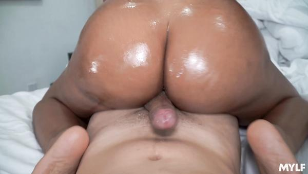 Horny Latina Shows Off Her Big Tanned Ass And Curvy Boobs To Step Son