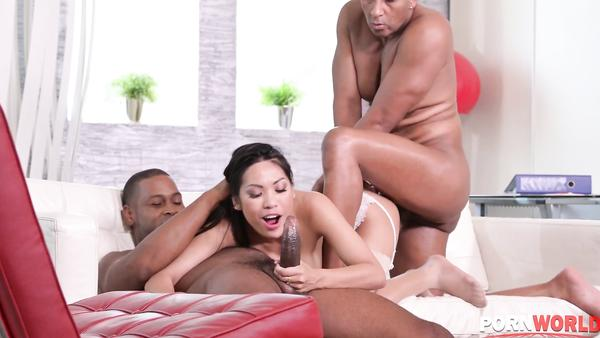 Two Fat Black Dicks For Petite Asian Butt Polly Pons